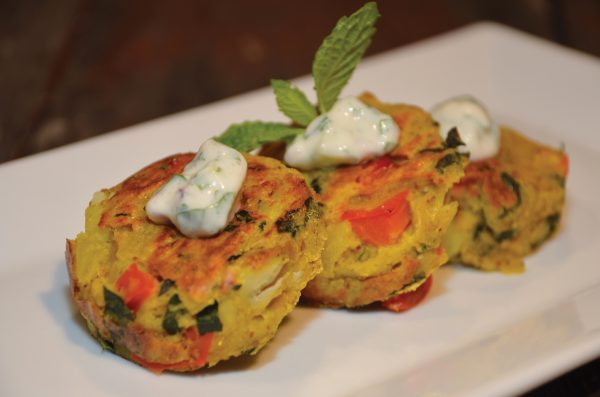Dining at The Ravens - Indian Spiced Kale and Potato Omelet