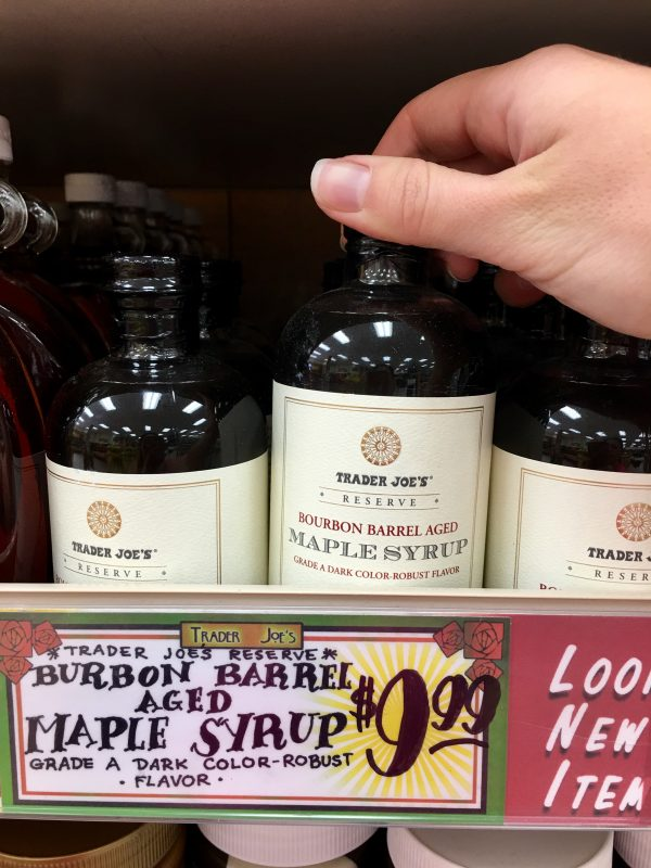 My Favorite Trader Joe's Finds - Bourbon Barrel Aged Maple Syrup
