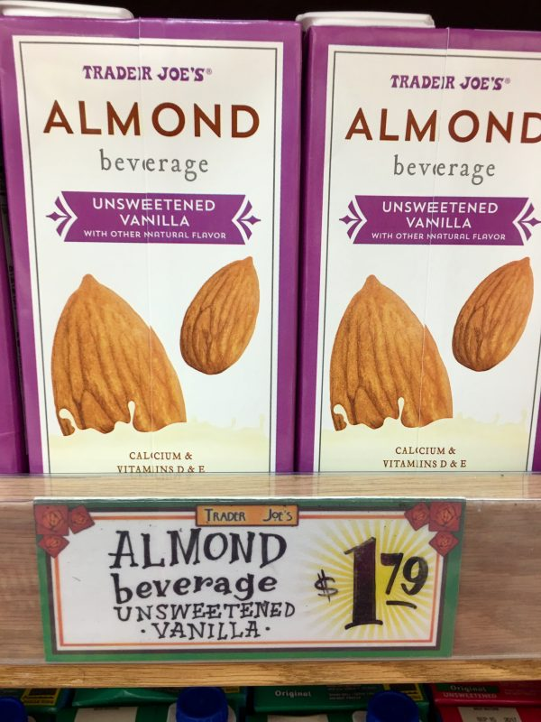 My Favorite Trader Joe's Finds - Unsweetened Vanilla Almond Milk