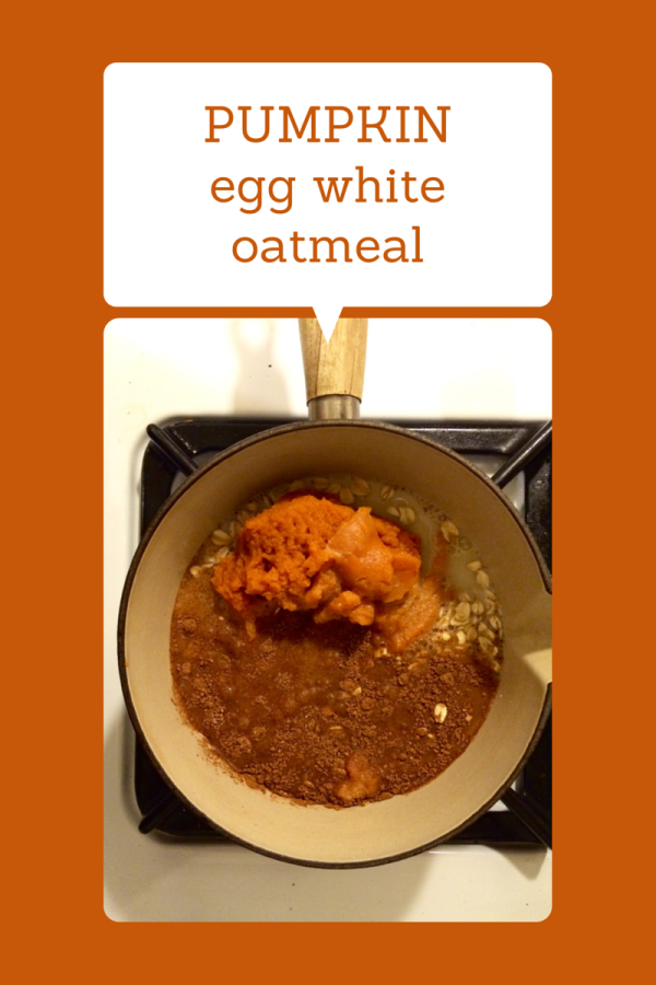PUMPKIN egg white oats