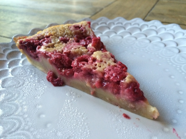Raspberry Clafoutis Slice Up Close