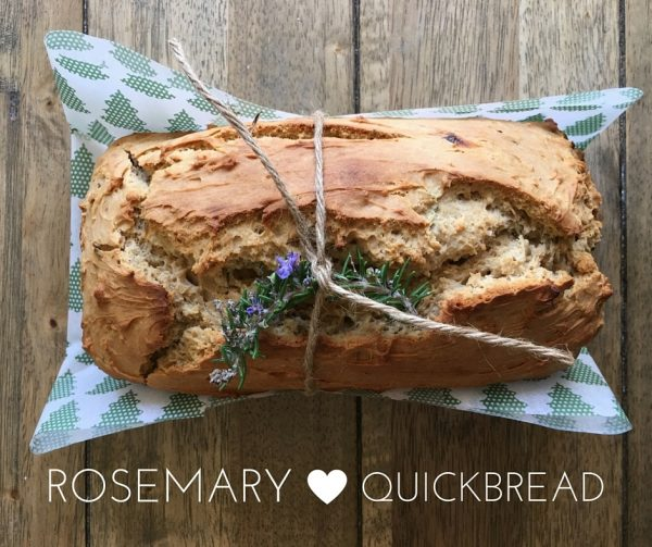 Rosemary Honey Quickbread - heart