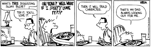 Calvin Builds Character