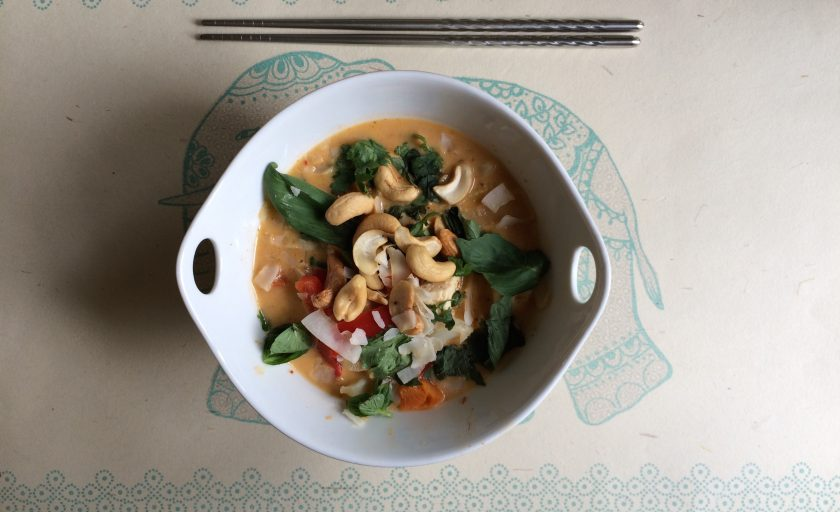 Thai Tofu Coconut Curry {Recipe Redux}