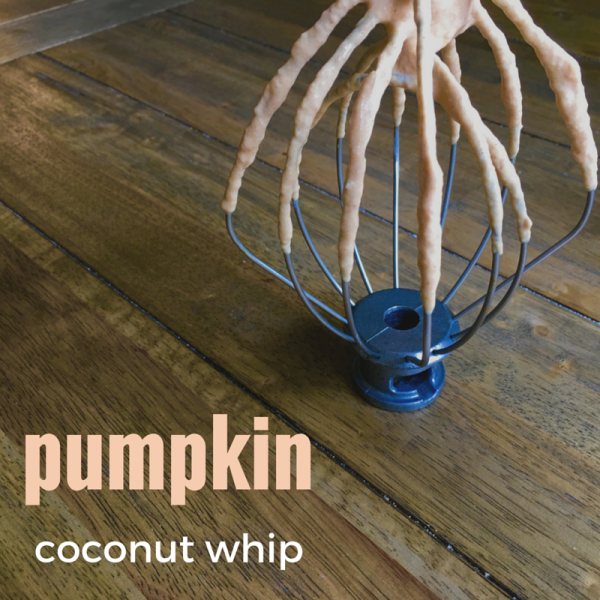 Pumpkin Coconut Whip